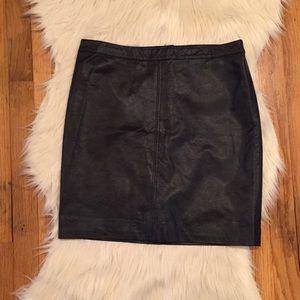 H&M - Black Leather Skirt